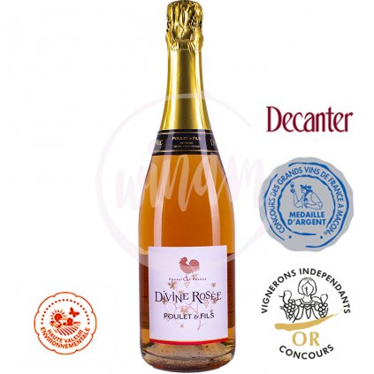 Polosuché růžové šumivé víno