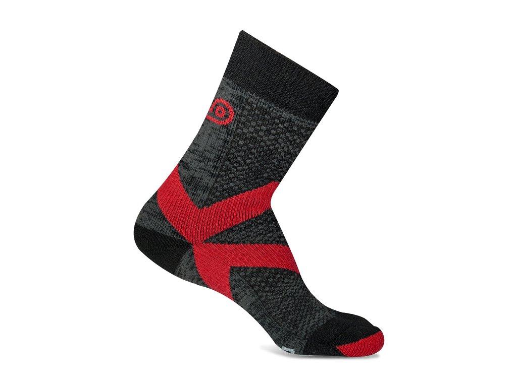 dcf307e9922 Výstřižek. Zesílené trekové ponožky s vyšším komínem. 42% merino vlny
