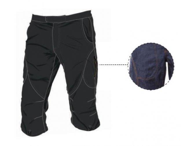 SALTIC MIRAGE 3/4 jeans tm.modré kalhoty