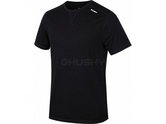 HUSKY MERINO pánské triko KR černá
