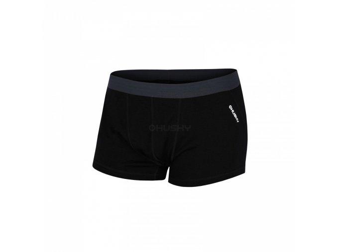 HUSKY MERINO boxerky pánské černé