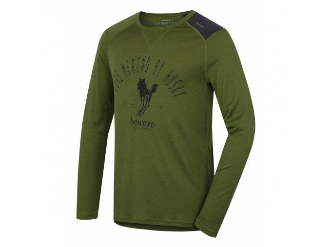 HUSKY MERINO páns. triko DL SHEEP khaki