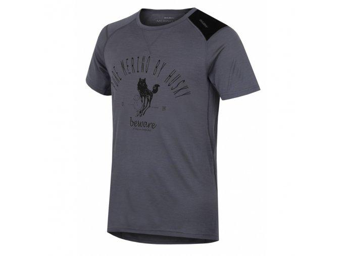 HUSKY MERINO pánské triko KR SHEEP šedá