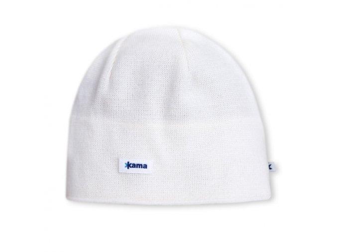 KAMA A02 pletená čepice 101 bílá (varianta M)