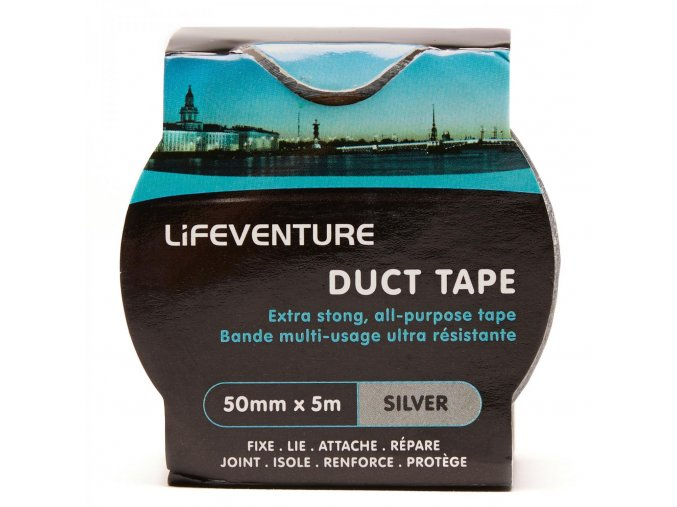 LIFEVENTURE DUCK TAPE lepící páska (varianta šedá)