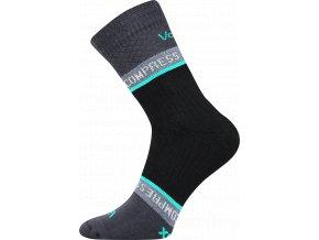 VOXX FIXAN ponožky kompresní tm.šedá