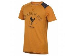 HUSKY MERINO pánské triko KR SHEEP oranž