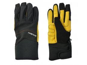 HUSKY ERGON pánské rukavice černo-žluté