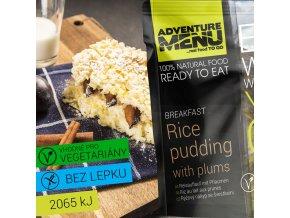 ADVENTURE MENU Rýžový nákyp se švestkami