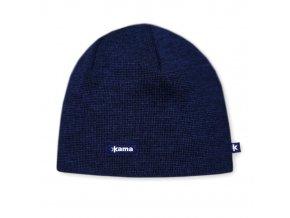 KAMA A02 pletená čepice 108 tm.modrá (varianta M)
