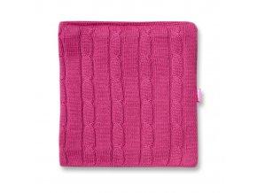 KAMA S15 114 růžový nákrčník pletený
