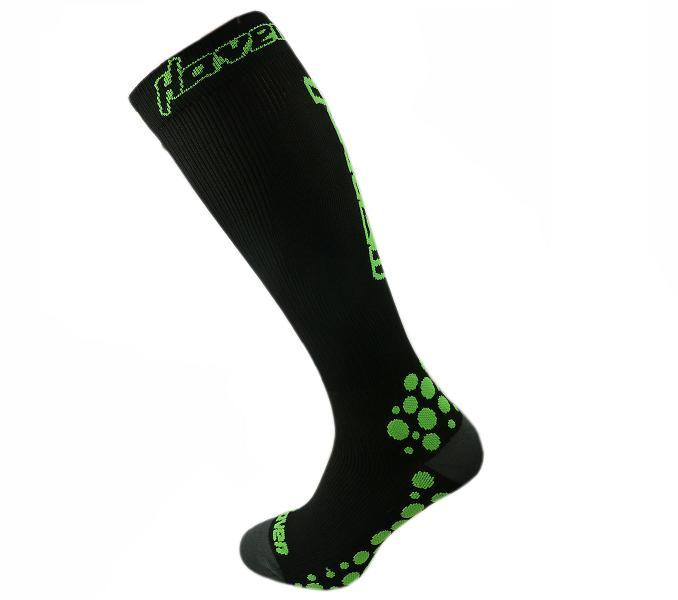 HAVEN kompresní ponožky black/green varianta: 10-11