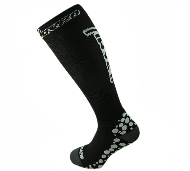HAVEN kompresní ponožky black/white varianta: 10-11