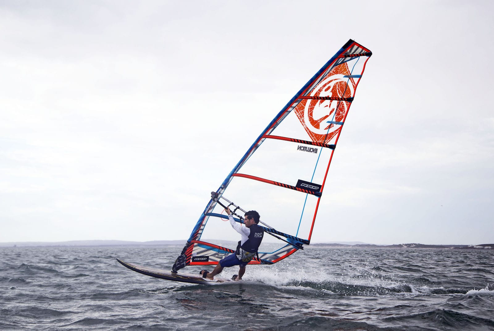 evolution mk8 orange blue rrd freeride plachta windsurfing karlin