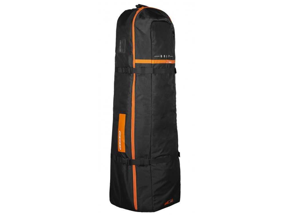 golf bag rrd y25 black orange na kite vybaveni s kolecky windsurfing karlin