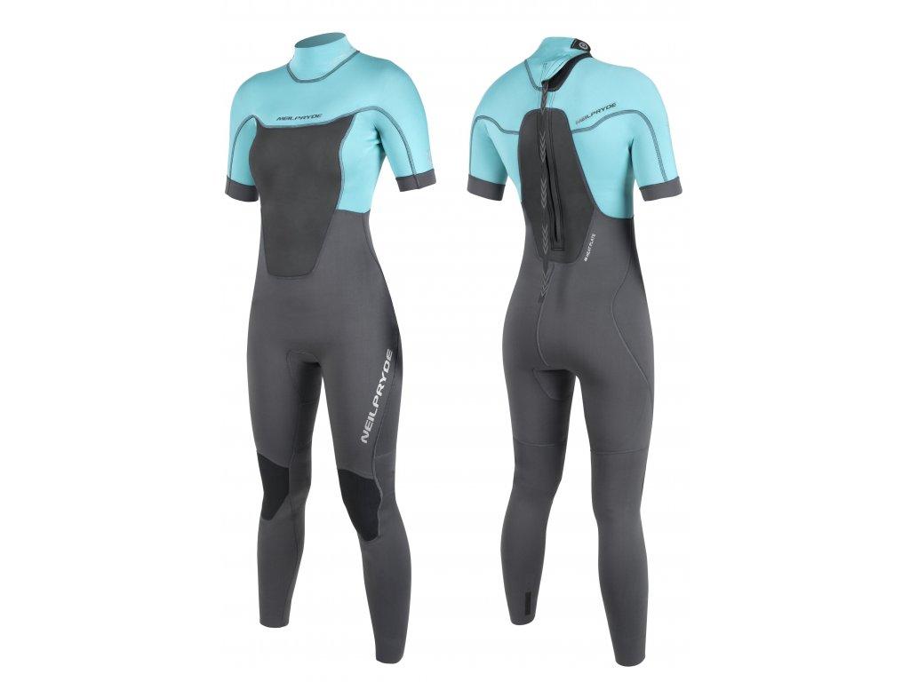 spark stream kratky rukav dlouhy nohavice TurquoiseGraphite windsurfing karlin tloustka 3 2