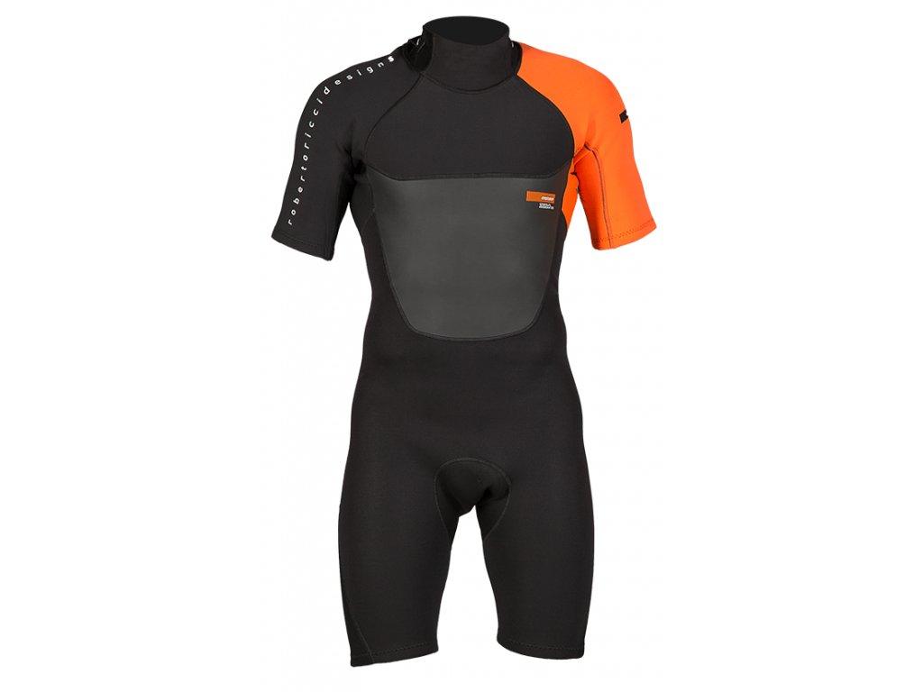 rrd wetsuit 2017 mens zero back zip 2 2 shorty flatlock