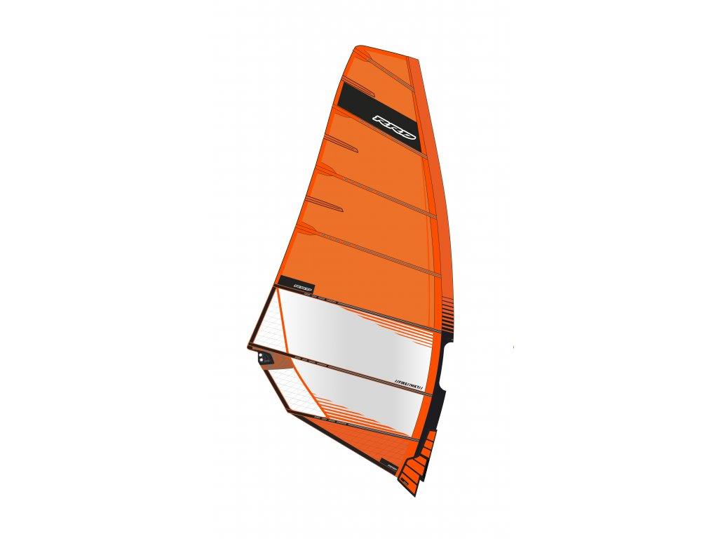 plachta fire mk7 orange rrd freerace windsurfing karlin