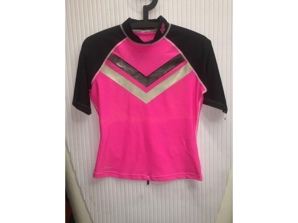 Neilpryde dámské lycrové tričko SS růžová černá
