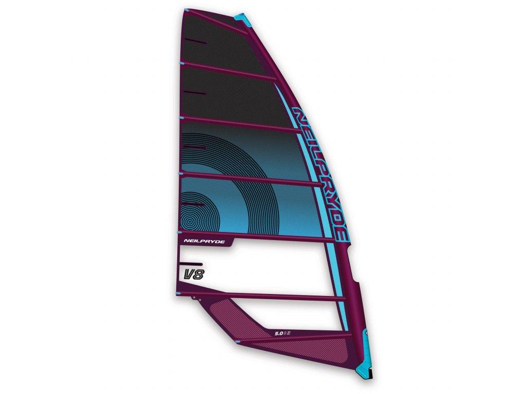 v8 plachta neilpryde kemborva 2 freerace windsurfing karlin black blue