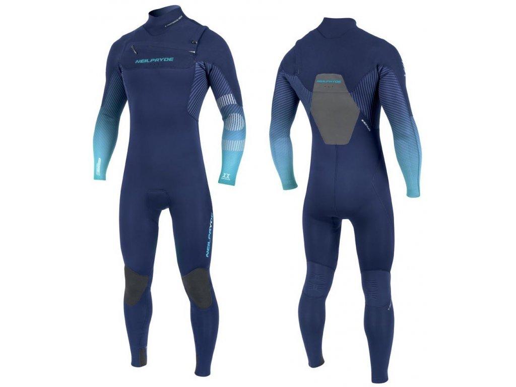 neopren neilpryde mission pansky dlouhy teply na windsurfing 5 4 3 ice blue color