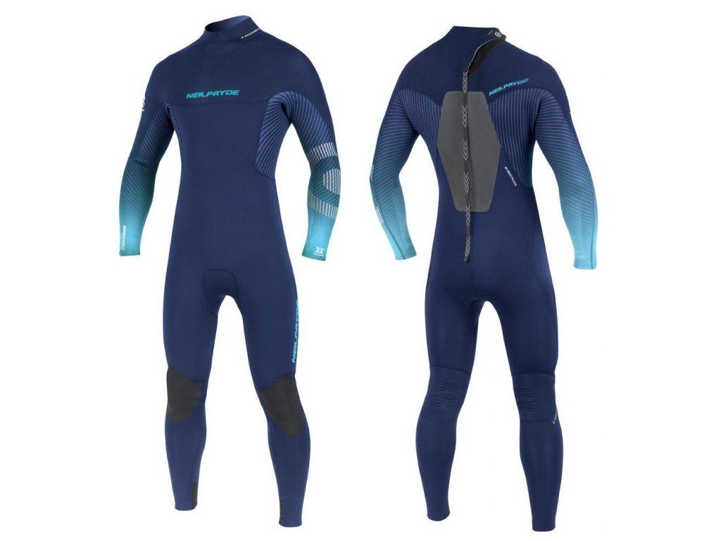 back zip neopren mission neilpryde ice blue color windsurfing karlin tloustka 5.4.3