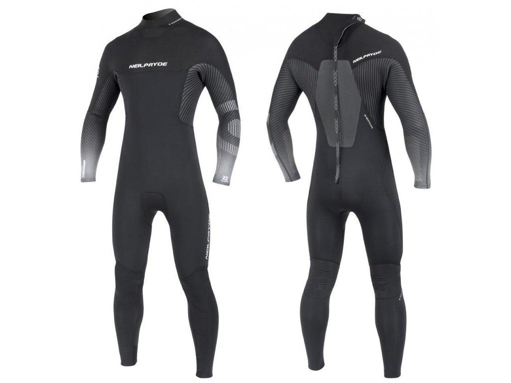 back zip neopren mission neilpryde black color windsurfing karlin tloustka 5.4.3