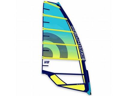 v8 plachta blue yellow 2021 profil obrazek windsurfing karlin