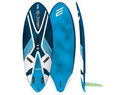 x move plovak exocet 138 litru na freeride windsurfing karlin