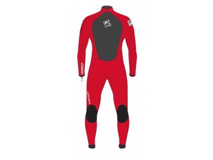 zero back zip red