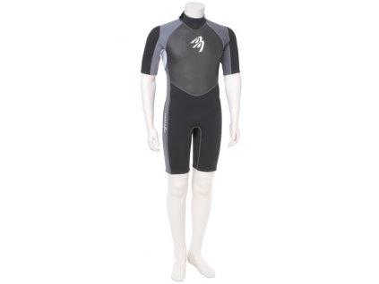 neopren ascan short silver black windsurfing karlin