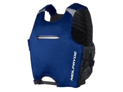 vesta plovaci panska modra na windsurfing s bocnim zipem windsurfing karlin