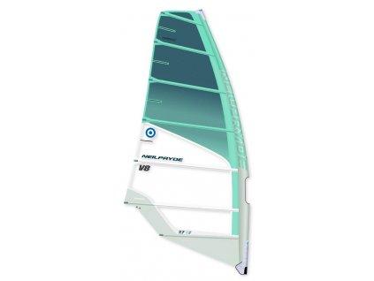 V8 plachta neilpryde tyrkysova windsurfing karlin