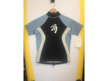 Ascan neoprenové tričko černá modrá