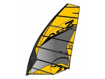 ACZ yellow 2020 slalom 2 cams windsurfing karlin