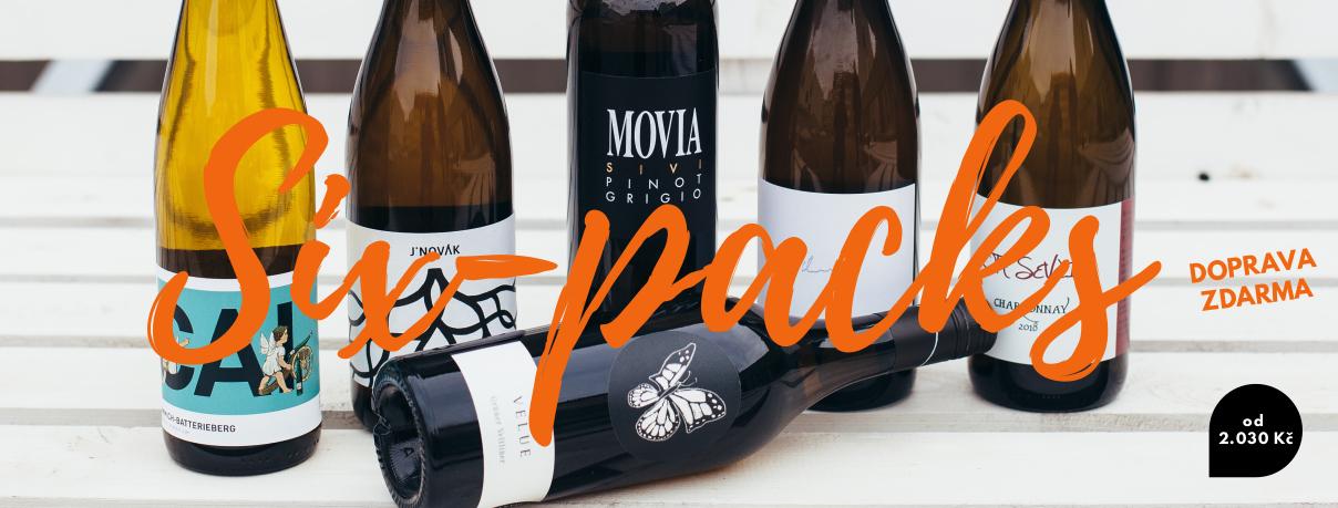 SIX-PACK balíčky vín