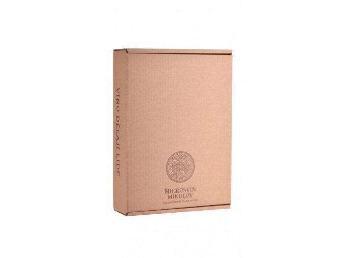Papírová krabička na 2-3 láhve vinařství Mikrosvín