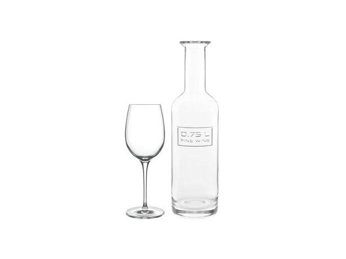 Sklenice na víno Palace Goblet + láhev, Winesommelier set, Luigi Bormioli, 6+1ks