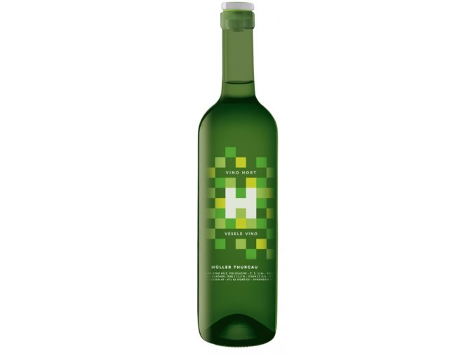 Veselé víno - Muller Thurgau, 2017, polosuché, Hort, 0,75l