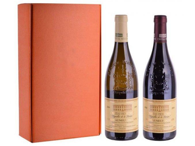 Châteauneuf-du-Pape - sada 2 vín, Chateau Beauchene, 2x0,75l