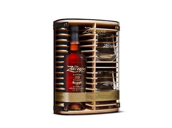 Ron Zacapa Centenario, 23 YO + 2 skleničky, Gift Box, 0,7l