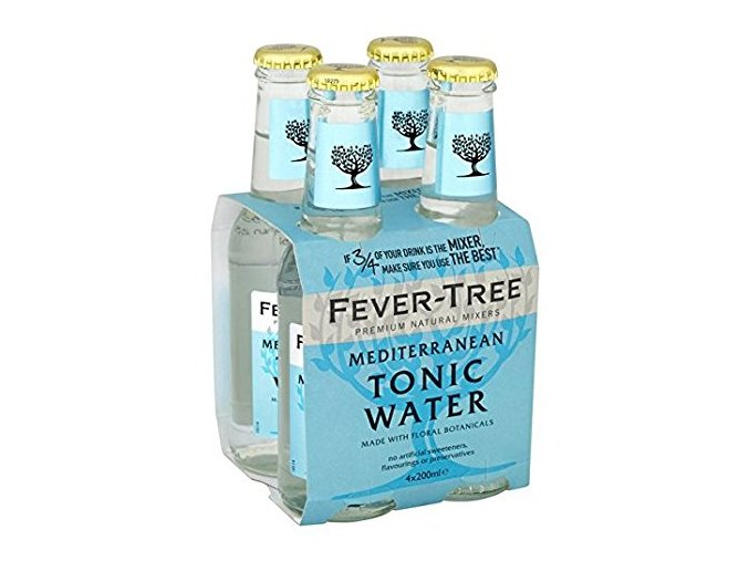 Fever Tree Mediterranean Tonic Water, 4x 200ml (4 pack)