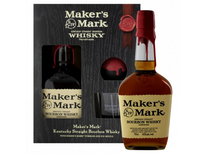 "Maker´s Mark ""Red top ""2 glass pack Kentucky straight bourbon whiskey, 45%, 0,7l"