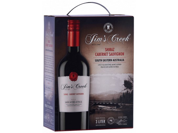 Jim´s Creek Shiraz Cabernet, bag in box, 3l