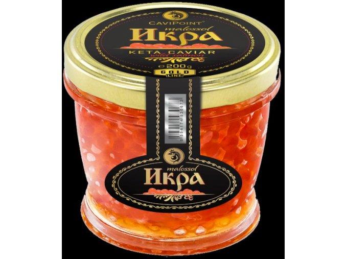 "Kaviár z divok. lososa ""KETA PREMIUM GOLD"", 200g"