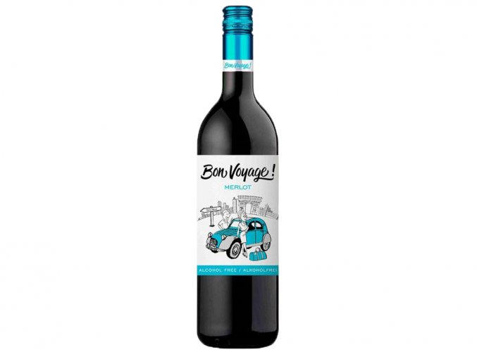 Bon Voyage Merlot, nealko, 0,75l