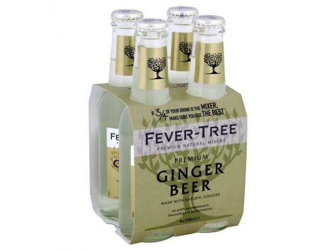 Fever Tree Ginger Beer, 4x 200ml (4 pack)3