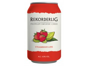 Rekorderlig Cider Strawberry Lime 33 cl Can