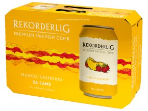 Rekorderlig Cider Mango-Raspberry, plech, 24x 0,33l