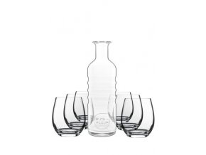 Sklenice na vodu + láhev, Palace Hydrosommelier, Luigi Bormioli, 6+1ks